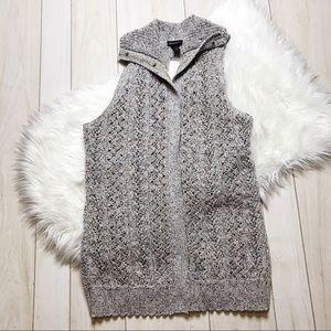 NWT Lane Bryant Marled Knit Crochet Sweater Vest
